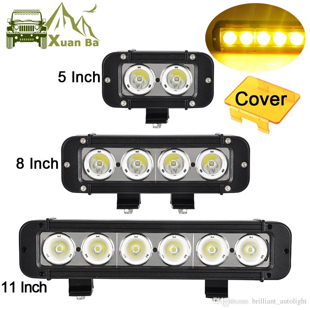 """2PCS 3/"""" INCH 40W LED Light Bars Flood Pods Off-Road Tractor 4WD ATV Boat Square"""