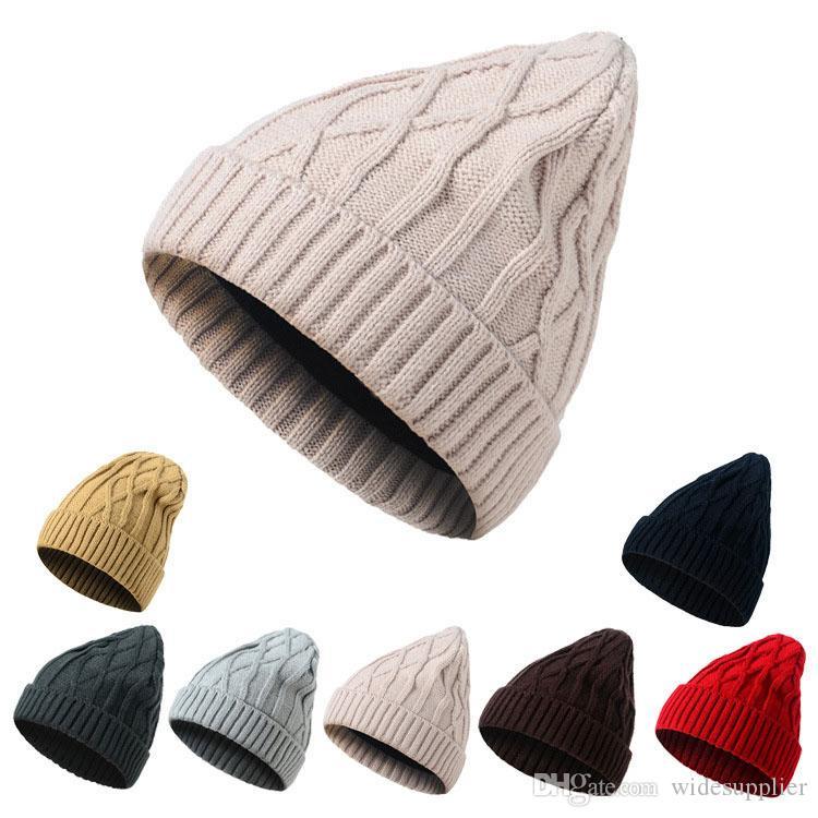 Cappello a maglia versione coreana per uomo e donna berretto da baseball doppio cappello di lana autunno e inverno cappello caldo berretti