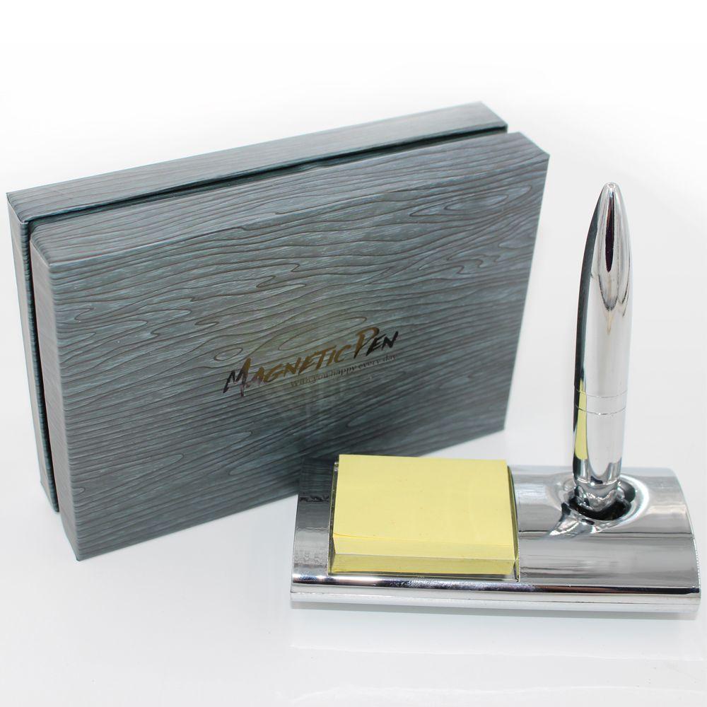 メモとマグネットホルダーの高品質のデスクトップテーブルペン1.0mmの詰め替えのある長方形のベースの磁気フローティングペン