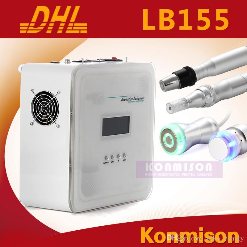 2017 Yeni Hiçbir İğne Mezoterapi Makinesi Ile Galvanik Soğutma Derma Kalem RF 4 1 İğnesiz Mosotherapy Faical Makinesi