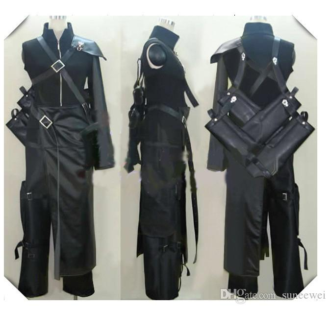 Final Fantasy VII Cloud Cosplay Costume with sword bag brooch