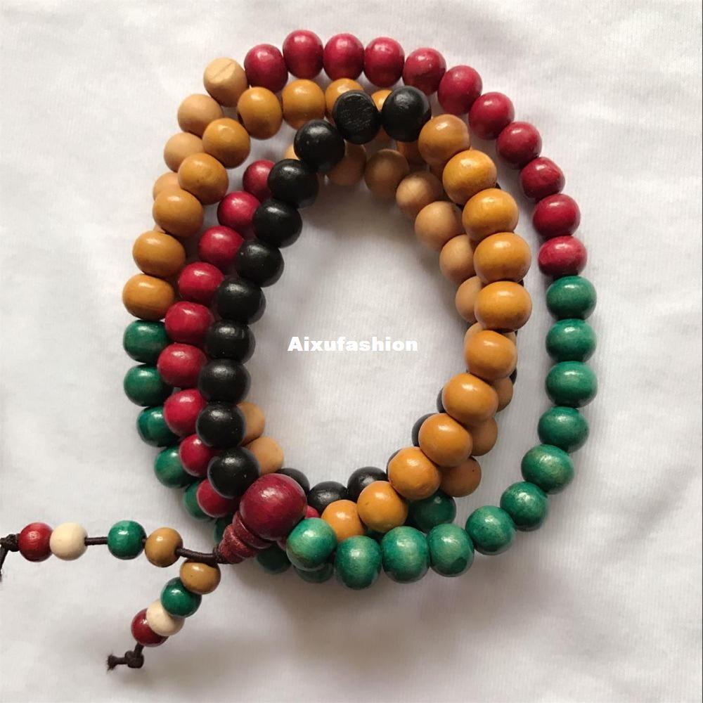 Authentische vietnamesische Agarwood Räucherstäbchen 108 Perlen 8mm Mode Gebet Perlen Armbänder Männer Schmuck Holz Armband aus China Yiwu Perlen Stränge