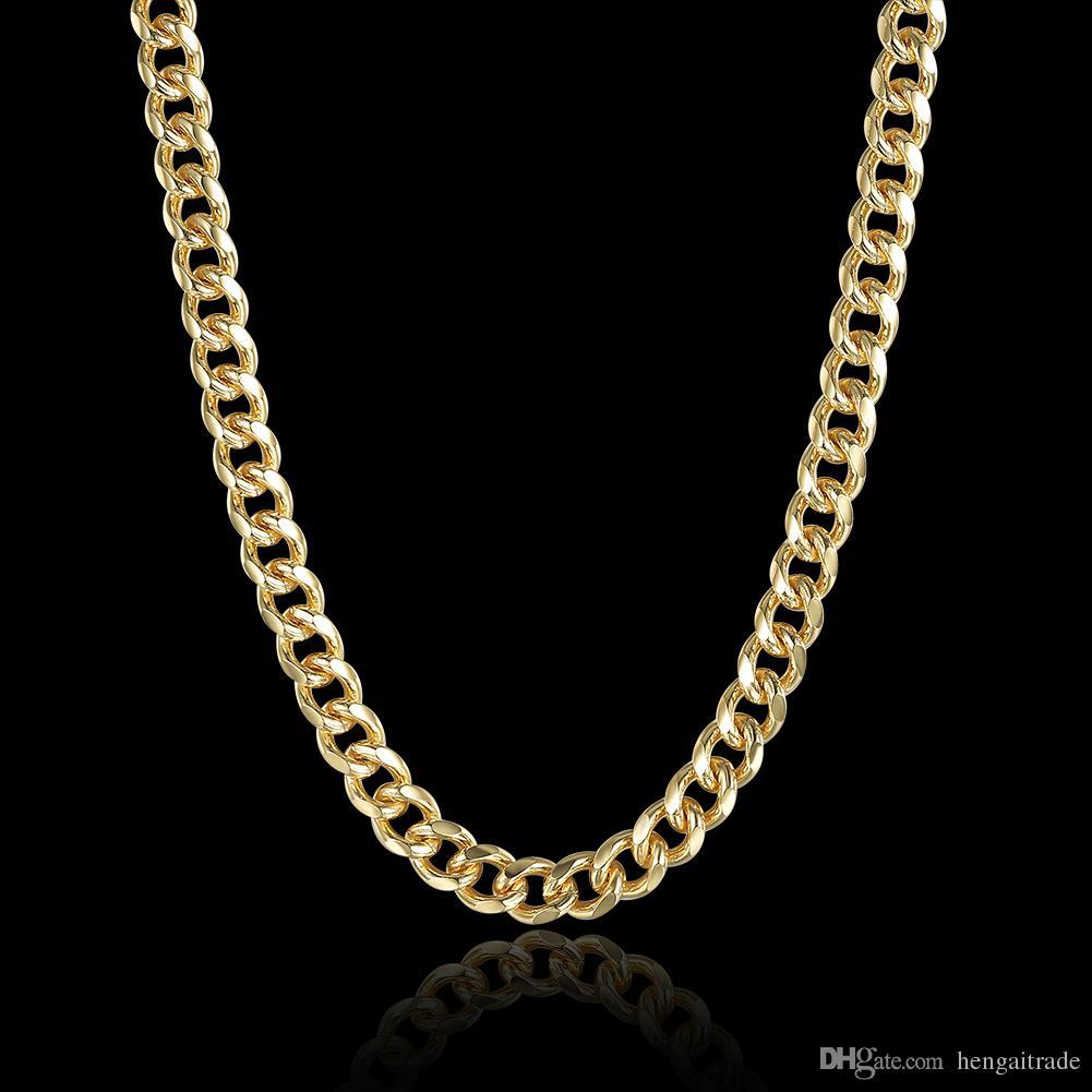 10pcs / lot geben Verschiffen 925 Sterlingsilber überzogene goldene seitliche Halskette LKNSPCN238 frei