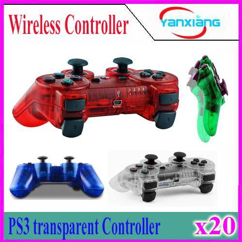Transparent Bluetooth Gamepad for P3 Controller Wireless Bluetooth Joysticks for Wireless Game Controller 20pcs YX-PS-O5