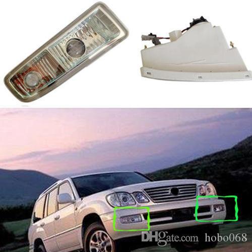 لكزس LX470 1998-2007 سيارة الجبهة اليسارية سائق حق الركاب الجانب الضباب القيادة ضوء مصباح الإسكان غطاء لمبة الإطار تريم استبدال