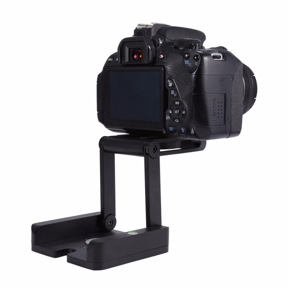 Freeshipping Professional Camera Flex Tripod Z Pan & Tilt Aluminum Folding Z Tripod BRACKET Head Solution Photography Studio