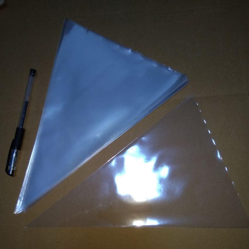 포장 명확한 Cellophane 부대 200x 크기 : 24cmx32cmtransparent Opp 삼각형 콘 모양 플라스틱 포장 부대 선물 샌드위치 소형 펀치