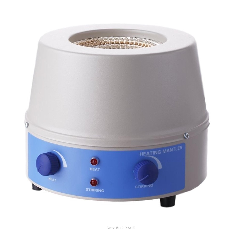 Envoltório magnético do aquecimento do agitador do laboratório 1000ml, 0 ~ 1400rpm, 350W, máximo 450 graus!
