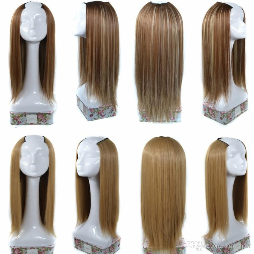 "Sara U PartWig Hair Clip Clip in Straight Hair Extension Synthetic Hairpiece Long 65CM، 25 ""14Color"
