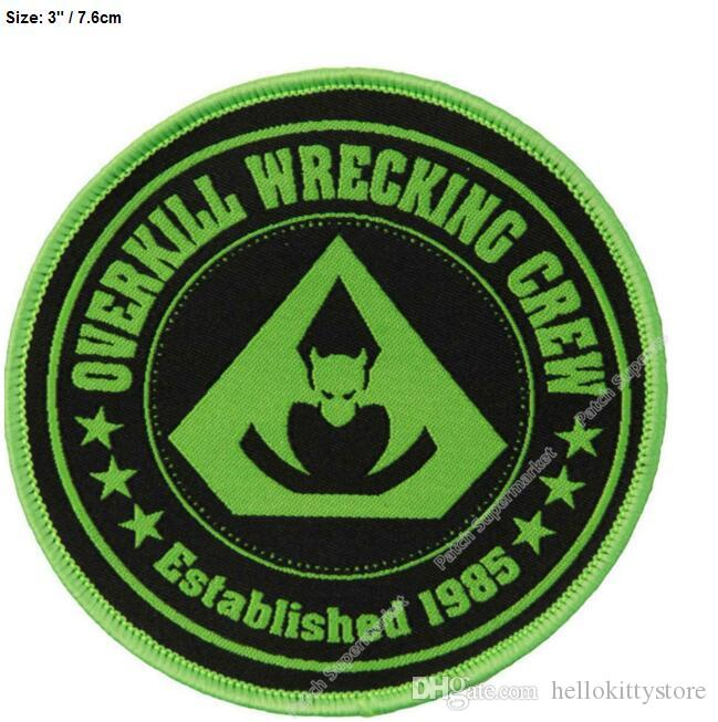 OVERKILL IRON ON PATCH: PUNK ROCK HEAVY METAL MUSIC SEW
