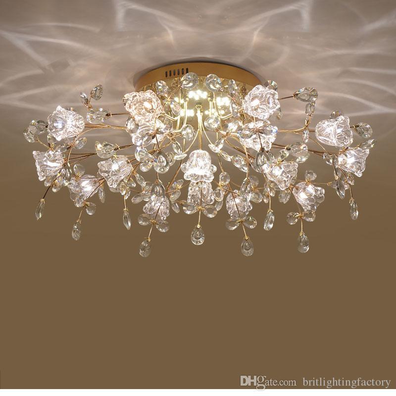 Lampada da soffitto moderna europea dell'hotel moderno lampada di cristallo moderna sala da pranzo camera da letto soggiorno soffitto luce pavimento decorazione della lampada a LED