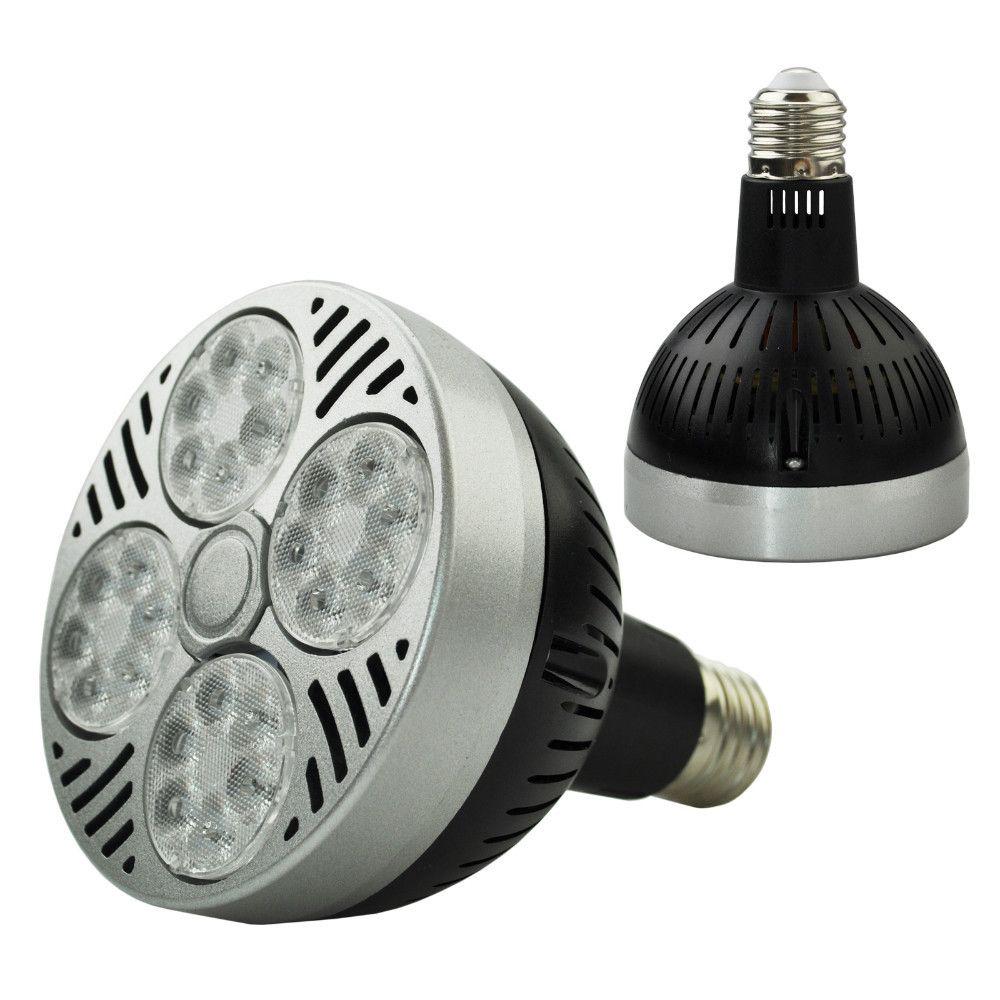 LED PAR30 35W 스포트라이트 파 30 전구 빛 E27 Indooor 높은 전원 램프 블랙, 화이트의 몸 85V-265V