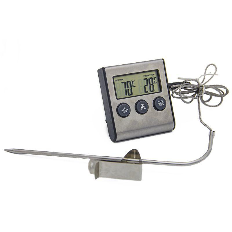 Cozinha de cozimento cozinha sonda tipo termômetro digital display digital sonda de tempo tipo termômetro de alimentos cozinhar