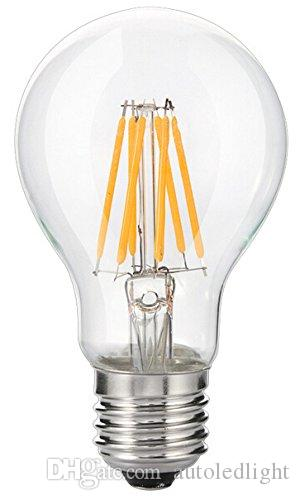 A60 led filament bulb 6W 8w LED E27 BULB Global clear filament bulb lamp e27/e14/b22 110v 220v