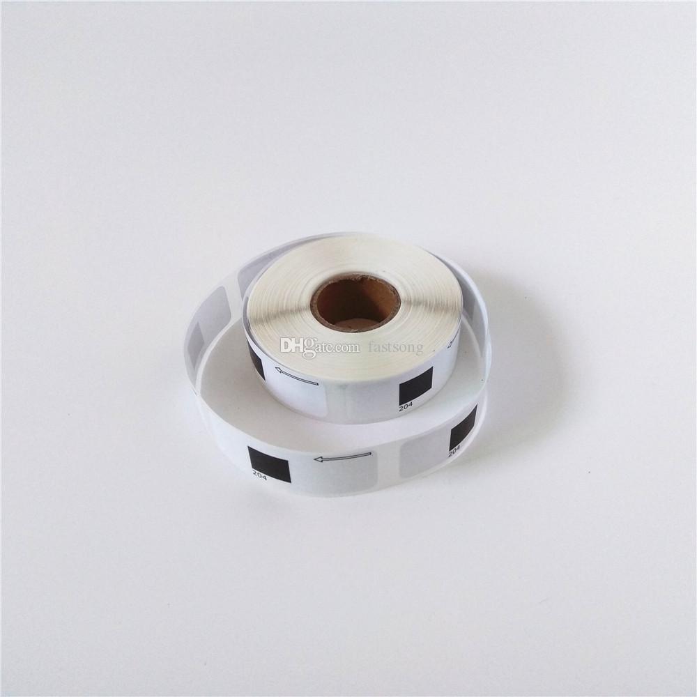 50 x rouleaux Brother DK-11204 DK 11204 DK11204 DK1204 DK-1204 DK 1204 Étiquettes compatibles Chaque rouleau avec support en plastique noir