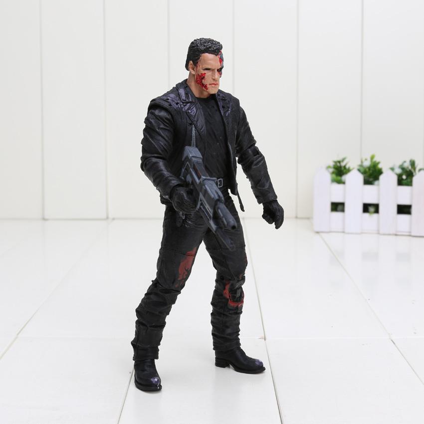 Action Figure The Terminator PVC kids toy arnold schwarzenegger t-800 t-1000