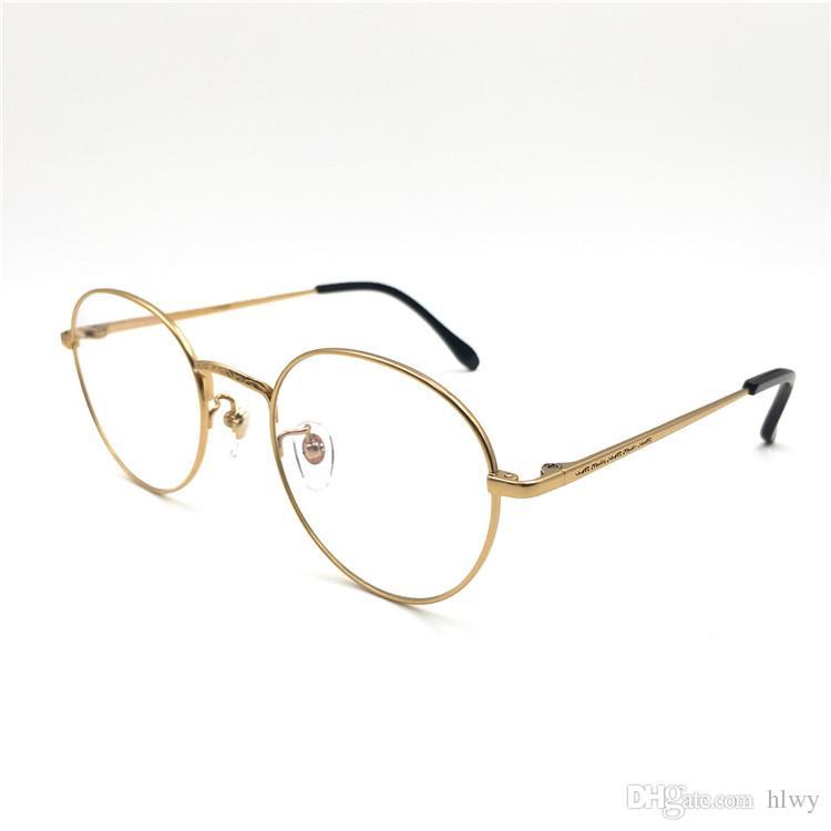 Les montures de lunettes de soleil rondes en titane pur 2017 Luxury Frame affichent le style des hommes et des femmes, l'art vintage et les montures de lunettes