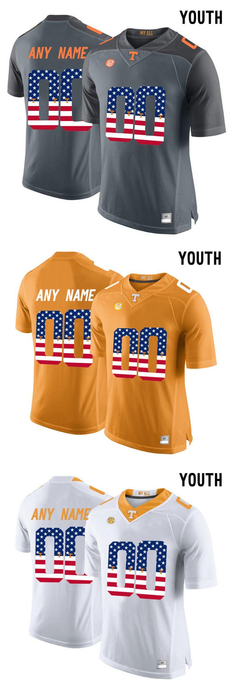 5f20a28a9 Youth 2017 US Flag Fashion Mens Tennessee Volunteers Customized Kids Boys  Children Men Custom Mens Tennessee Volunteers College Football Limited  orange ...