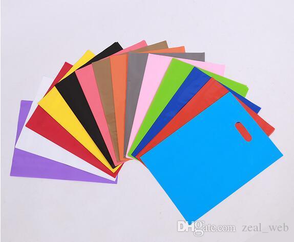 의류 / 인쇄 로고 프로모션 가방 손잡이 비닐 봉투 / 선물 플라스틱 포장 가방 쇼핑 사용자 정의 로고 (7)