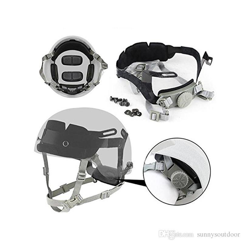 Helmzubehör OPS-CORE Tactical Fast Helmkopfverriegelung Cingulate-Hängesystem Dial Liner-Verriegelung Trägersystem