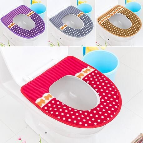 Groovy 2018 Cute Warmer Toilet Seat Cover For Bathroom Thicken Soft Back Waterproof Mat Lid Closestool Cloth Toilet Seat Overcoat Toilet Case From Ncnpc Chair Design For Home Ncnpcorg