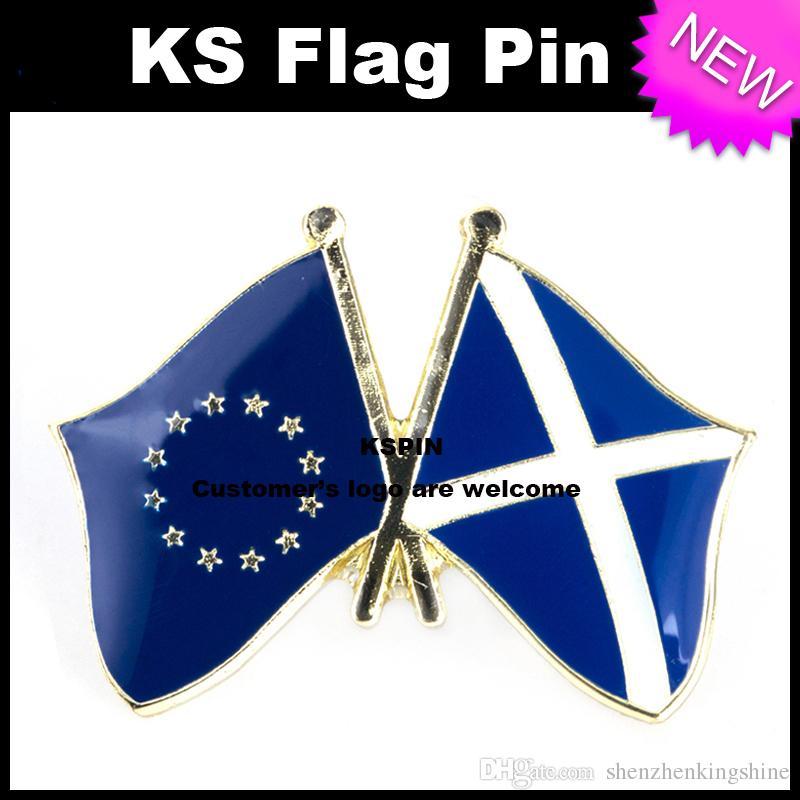 Pin 10pcs della bandiera del distintivo della bandiera della Scozia dell'Unione Europea molto trasporto libero XY0045