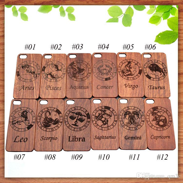 3D Wood Carving Cell phone Case For Iphone 5 6 6s 7 plus Bamboo Wood Cases Hard Wooden Cover For Samsung Galaxy S5 S6 S7 edge