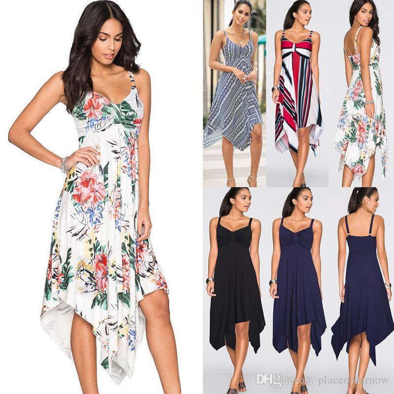 Nouvelle mode Sexy Stume Sans Manches Lâche Robe Femme Sling Long Long Beach Sans Bretelles Sling Robe irrégulière