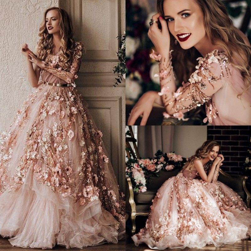 Роскошные вечерние платья одно плечо с длинными рукавами Elie Saab вечернее платье линии длиной до пола 3D аппликация взлетно-посадочной полосы мода платье с поясами