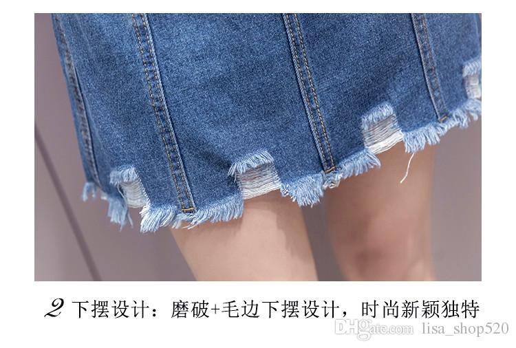 2017 Plus Size Denim Skirt 2017 Elegant Women Slim Mini Denim ...