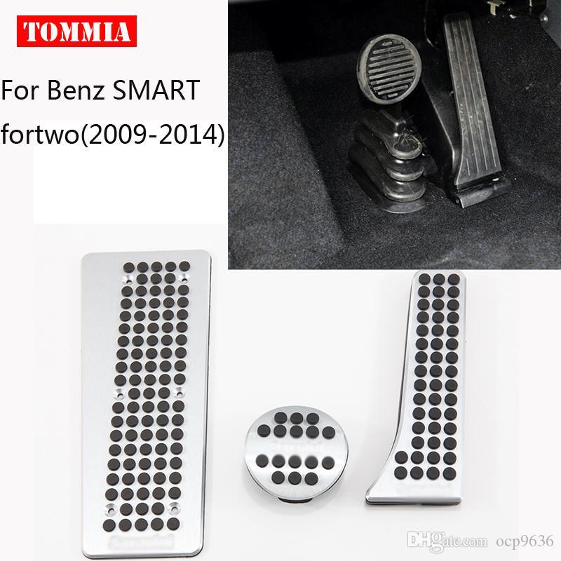 Para Benz SMART fortwo 2009-2014 Pedal Capa Combustível De Freio A Gás Pé Restante Carcaça Sem Perfuração Do Carro-styling