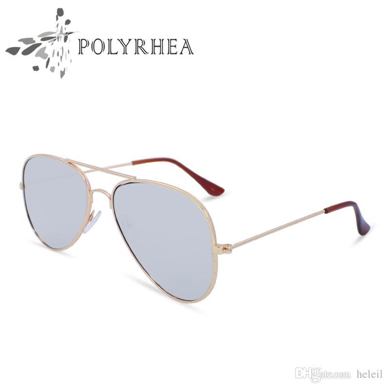 2021 Высококачественные солнцезащитные очки Женщины Поляризованные Солнцезащитные Очки УФ Защита Вождение Мужчины Дизайнер Металл с коробкой и корпусами
