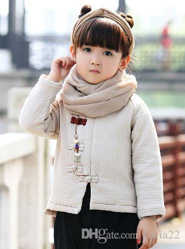 The children's costume winter suit coat boy baby clothes girls improved Han Chinese New Year festive Chinese children