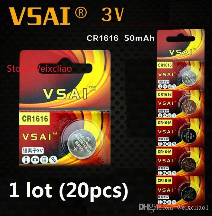 20 adet 1 grup CR1616 3 V lityum li ion düğme pil CR 1616 3 Volt li-ion para pilleri VSAI Ücretsiz Kargo