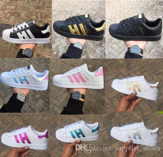 Hot 2017 Fashion mens Casual shoes Superstar smith stan Female Flat Shoes Women Zapatillas Deportivas Mujer Lovers Sapatos Femininos for men
