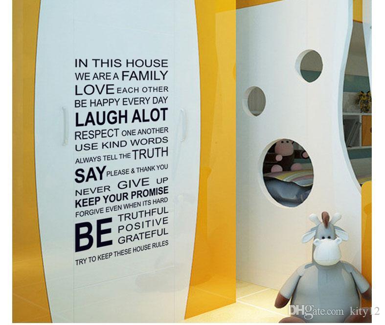 IN DIESEM HAUS Englisch DIY Wandaufkleber Home Decor Wohnzimmer Sofa Wandtattoos Decoration