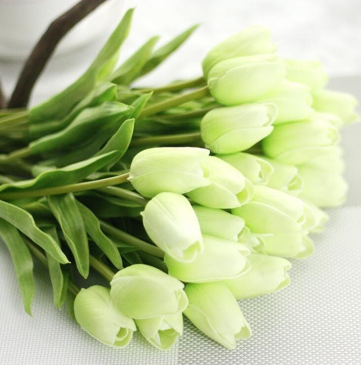 높은 품질 가짜 인공 실크 튤립 플로레스 Artificiales 꽃다발 파티 인공 꽃 홈 웨딩 장식 신부의 꽃