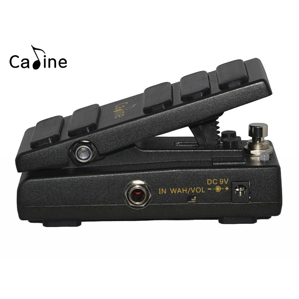 Caline CP-31 Pedal de guitarra eléctrica Wah Wah conmutable entre el modo Wah y el modo VOL Entrada DC9V