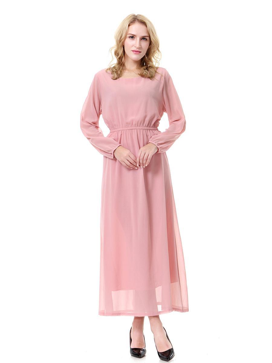 großhandel frauen islamische moslemische lange kleider nahöstliches  ethnisches art kleid langärmliges kleid malaysia abayas in dubai türkischer