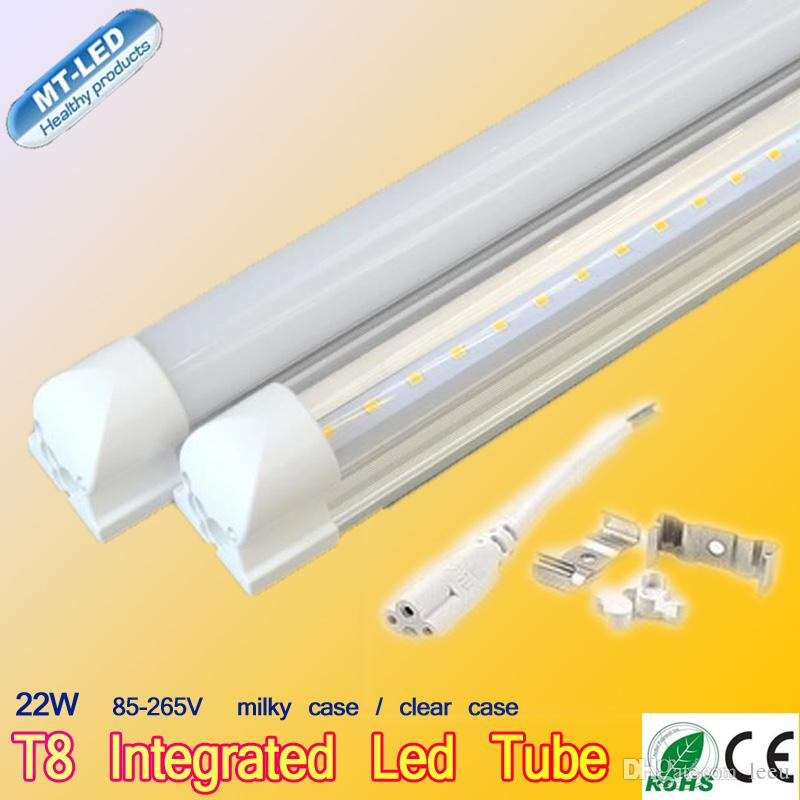LED T8 튜브 0.6m 0.6m 0.9m 1.5m 1.8m 2.4M SMD2835 빛 LED 조명 형광등