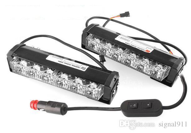 Lumières d'avertissement de gril de haute qualité DC10-30V, 6W * 2units, lumières de secours stroboscopiques, phares stroboscopiques, racine d'eau IP 67 (2units / 1set)