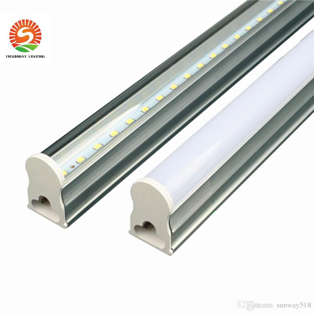 재고 T5는 관 빛 2피트 12w 3피트 4피트 22w LedTUBES 형광 튜브 램프 따뜻한 자연 차가운 백색 AC85-265V 벽 램프를 주도 통합