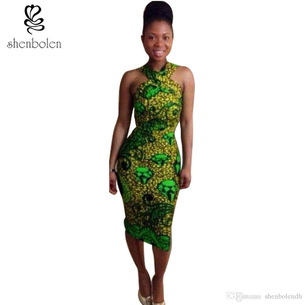 Wholesale Shenbolen Summer African Dresses For Women Sexy Sheath ...