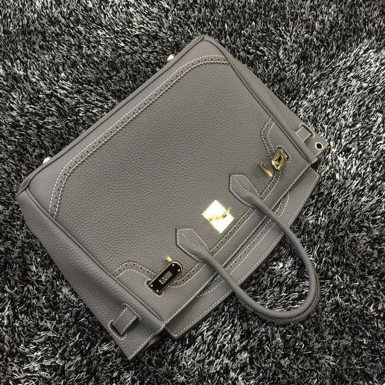 2016 Luxury H Handbag Women\`s Litchi Cowhide Messenger Bag Genuine Leather Famous Designer Shoulder Crossbody Totes Ladies Bolsa 1 (4)