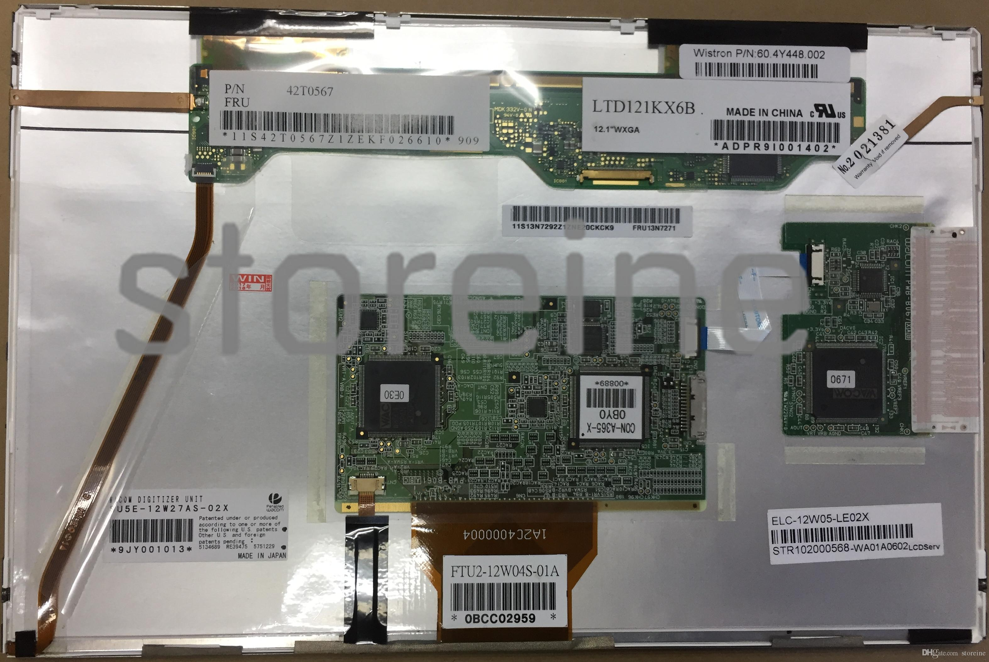 Lg121kx6b lcd ekran paneli dokunmatik ekran digitizer cam lenovo thinkpad x201 x200 tablet p / n 42t0567