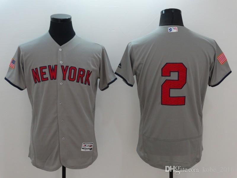 87f309819 ... HOT New York 2 Derek Jeter Gray With GMS The Boss Patch . Mens Majestic New  York Yankees 2 Derek Jeter Authentic White ...