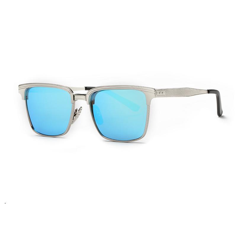 Оптово Прямоугольник óculos Brand Женщины Спорт на открытом воздухе солнцезащитные очки Мужчины металлический каркас с плоским Солнцезащитные очки в стиле ретро Зеркало UV400