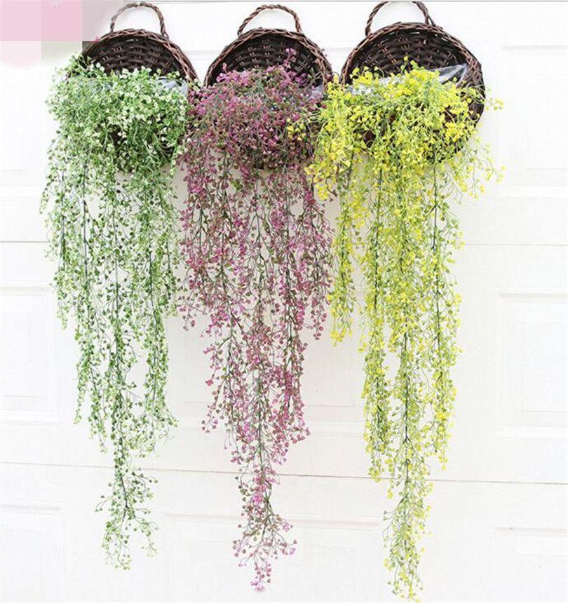 """Planta Bracket falso Vime Rotins 75 centímetros / 29,53"""" comprimento Plastics Wicke Vine Bracketplant para casamento flores artificiais decorativas"""