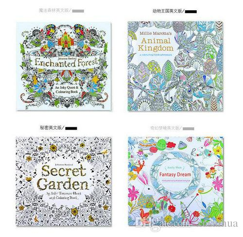 Cheap Kids Adult Painting Books Secret Garden Lost Ocean Time