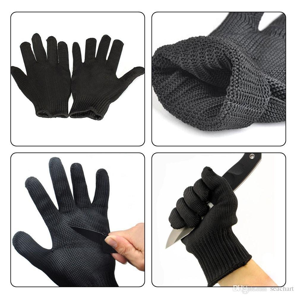 Handschuhe Proof Schützen Edelstahldraht Sicherheitshandschuhe Cut Metall Mesh Butcher Anti-schneiden atmungsaktive Travel Kit SC024